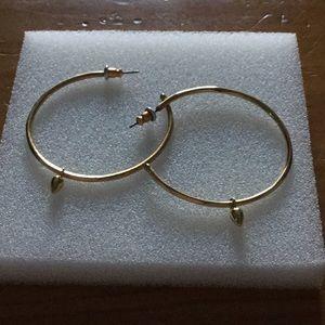 Stella and Dot gold hoop earrings
